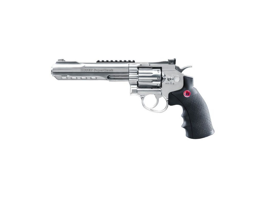 airsoft revolver ruger superhawk black 6 palcu nikl