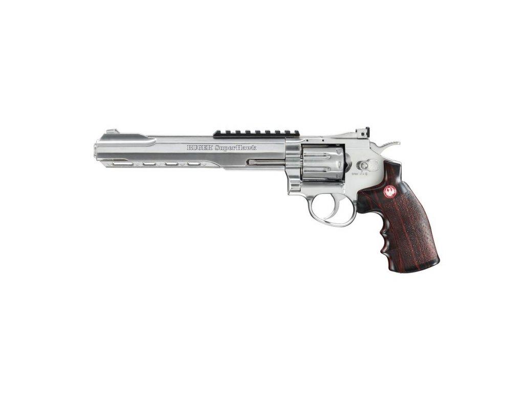 airsoft revolver ruger superhawk nikl 8 palcu