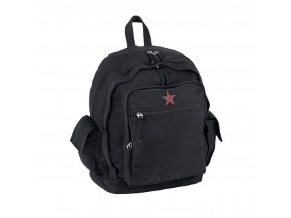 "Batoh MIL-TEC ""RED STAR"" Black"