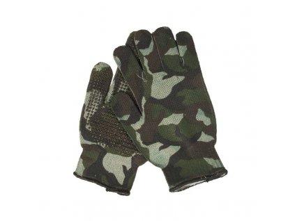 Rukavice US Gripper Spandoflage® Woodland