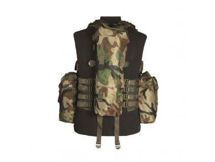 Taktická vesta MIL-TEC 12 kapes Woodland