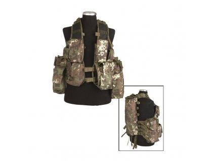 Taktická vesta MIL-TEC 12 kapes Vegetato Woodland