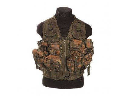 Taktická vesta MIL-TEC 9 kapes Flecktarn