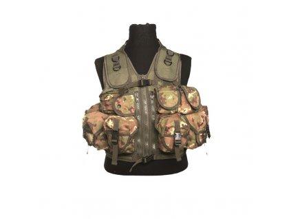 Taktická vesta  9 kapes  Vegetato Woodland