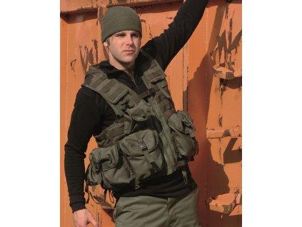 Taktická vesta MIL-TEC Modular system 8 kapes Olive