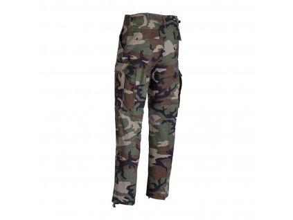 Kalhoty MIL-TEC BDU Woodland - předepraný Vintage vzhled