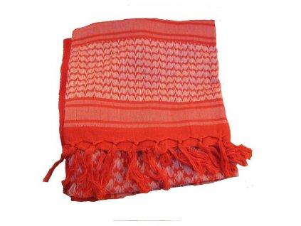 Šátek SHEMAGH  Červená/Bílá