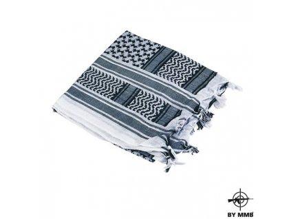 Šátek MMB SHEMAGH Bílá/Černá