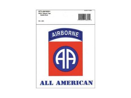 Samolepka 82nd Airborne All American