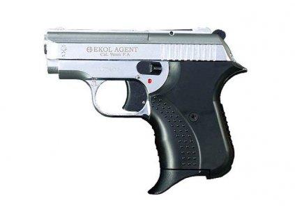 Plynová pistole Ekol/Voltran Agent Nikl cal.9 mm P.A.Knall