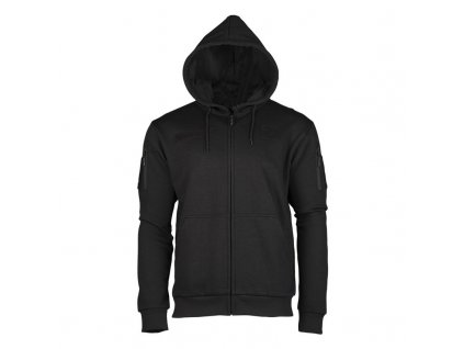 Mikina MIL-TEC Tactical s kapucí Black