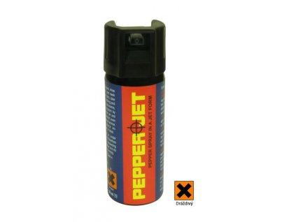 Pepřový obranný sprej PEPPER JET 50 ml - tekutá střela