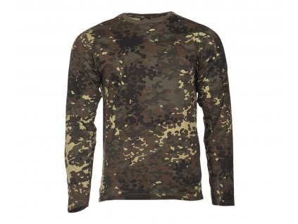 Tricko dlouhy rukav Single Jersey Flecktarn