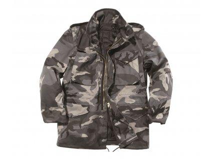 Kabát MIL-TEC US M65 s tepelnou vložkou Dark Camo