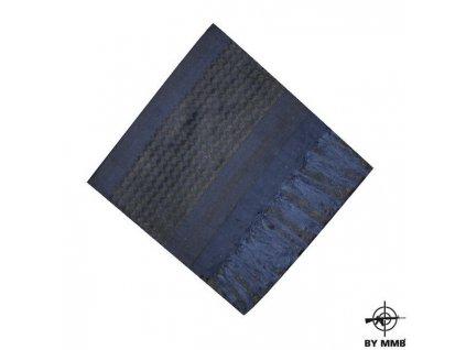 Šátek SHEMAGH  Modrá/Černá