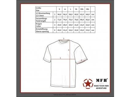 Tričko Max-Fuchs krátký rukáv US styl Zifra Flora