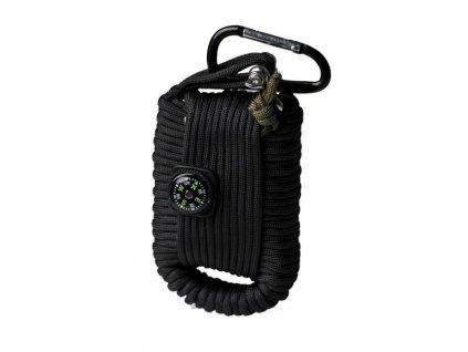 Set pro přežití MIL-TEC Paracord Černý - velký