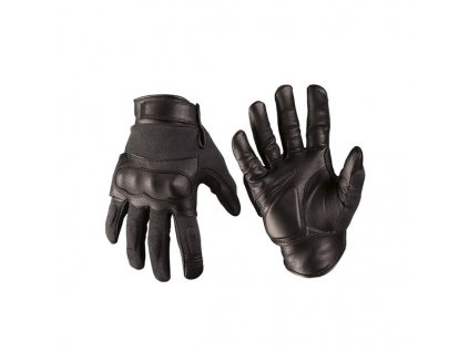 Rukavice MIL-TEC taktické kevlar/kůže Černé