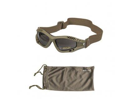 Brýle MIL-TEC Commando Air Olive - kouřová skla