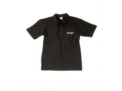 Tričko MIL-TEC krátký rukáv POLO Security Černé