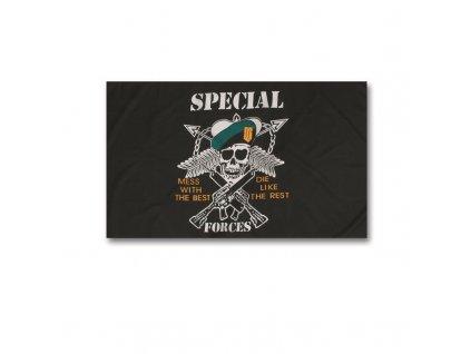 Vlajka MIL-TEC s motivem SPECIAL FORCES