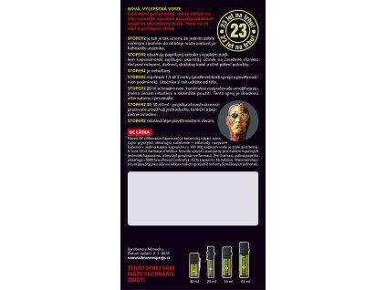 Pepřový obranný sprej STOPER2 pěnový 20 ml s klipem