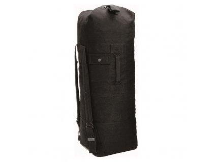 Lodní vak MIL-TEC US style s popruhy 75l Black