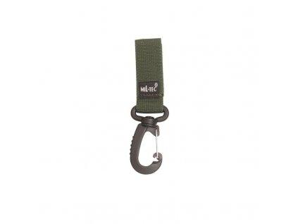 Posuvka MIL-TEC na opasek MOLLE s karabinou 70 mm Olive