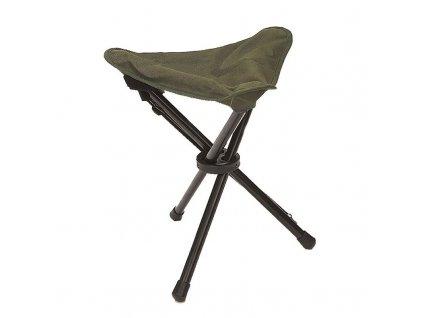 Skládací stolička MIL-TEC - trojnožka Olive