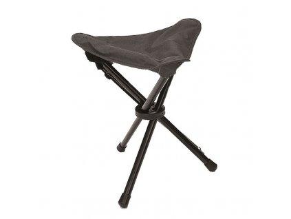Skládací stolička - trojnožka Black