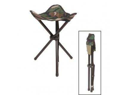 Skládací stolička MIL-TEC - trojnožka Woodland