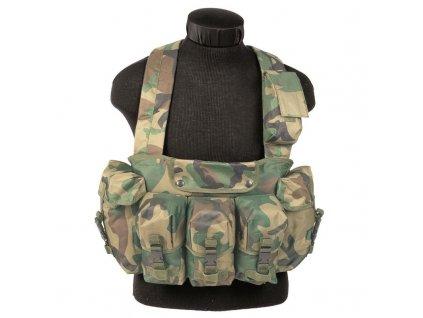 """Taktická vesta MIL-TEC """"bandalír"""" 6 kapes Woodland"""
