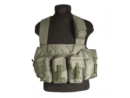 "Taktická vesta MIL-TEC ""bandalír"" 6 kapes Olive"