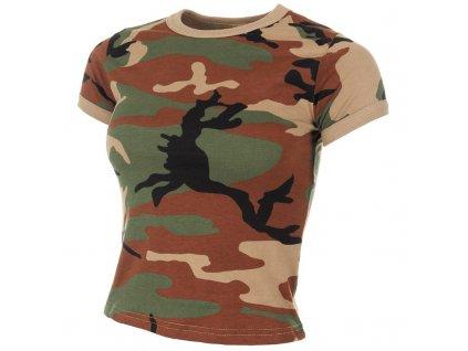 Tričko dámské US style krátký rukáv Woodland