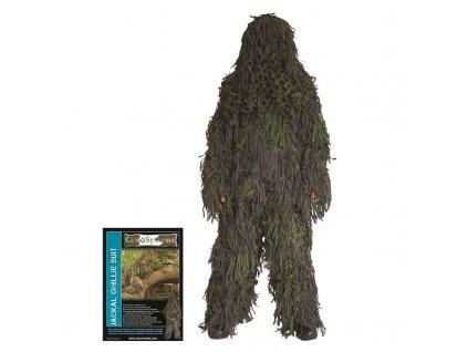 Maskovací oblek Camosystems Ghillie Jackal Woodland