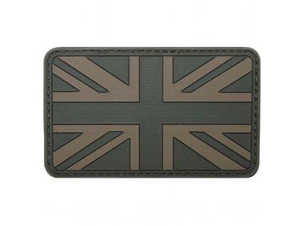 Nášivka Max-Fuchs 3D vlajka GB bojová Velcro 8 x 5 cm