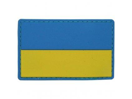 Nášivka Max-Fuchs 3D vlajka Ukrajina barevná Velcro 8 x 5 cm
