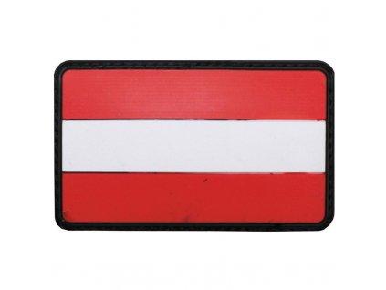 Nášivka Max-Fuchs 3D vlajka Rakousko barevná Velcro 8 x 5 cm