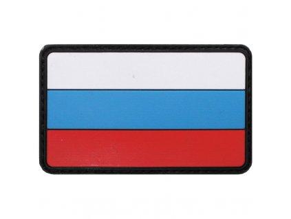 Nášivka Max-Fuchs 3D vlajka Rusko barevná Velcro 8 x 5 cm
