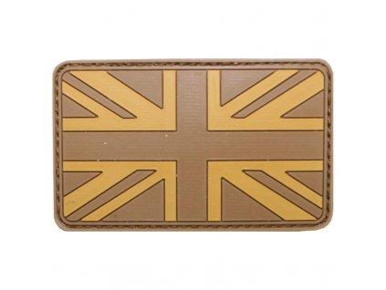 Nášivka Max-Fuchs 3D vlajka GB Desert Velcro 8 x 5 cm