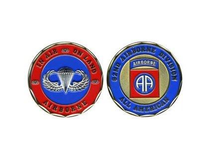 Pamětní mince E.C. 82nd Airborne Division