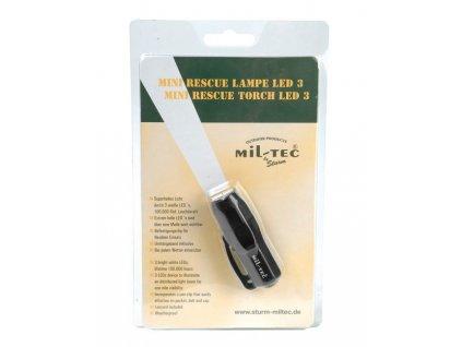 Svítilna MIL-TEC Mini Rescue 3 LED Černá