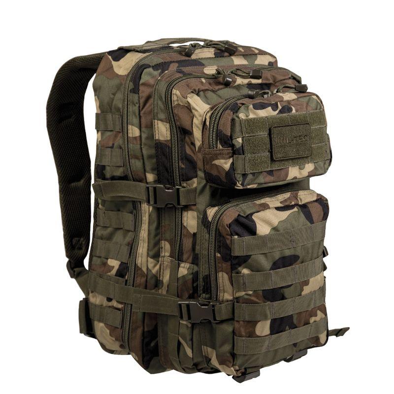 MIL-TEC batoh US Assault Pack LG Woodland 36l