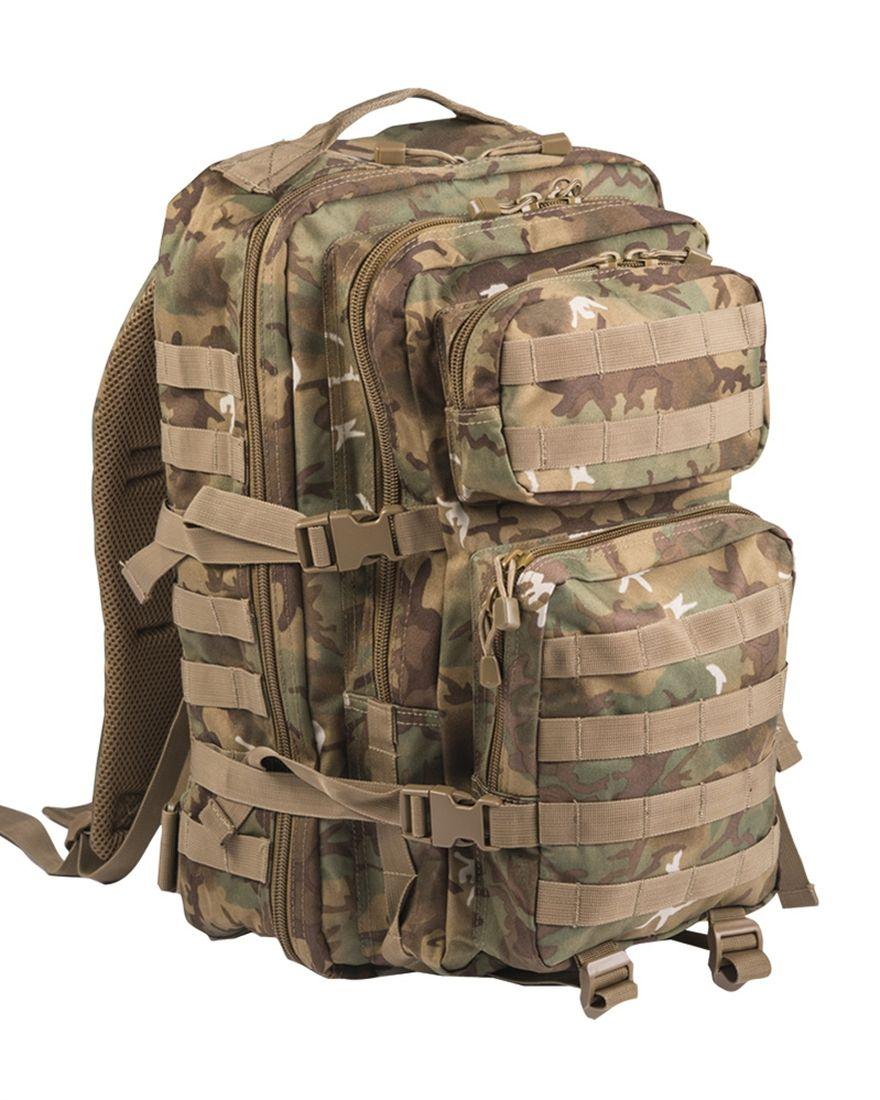 MIL-TEC Batoh US Assault Pack LG Arid-Woodland® 36l