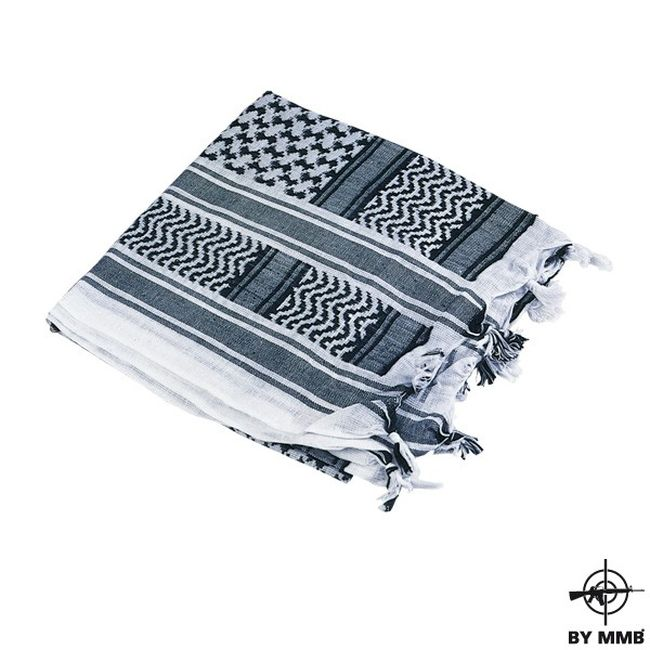 MMB Šátek SHEMAGH Bílá/Černá