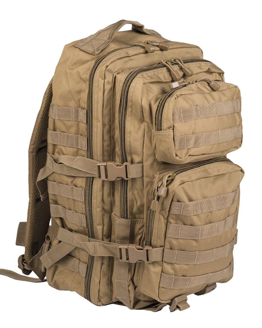 MIL-TEC Batoh US Assault Pack LG Coyote 36l