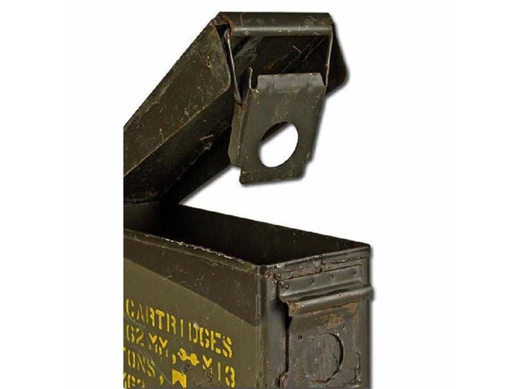 Bedna muniční plechová úzká (malá) 27,5/ 9,5/17,5 cm