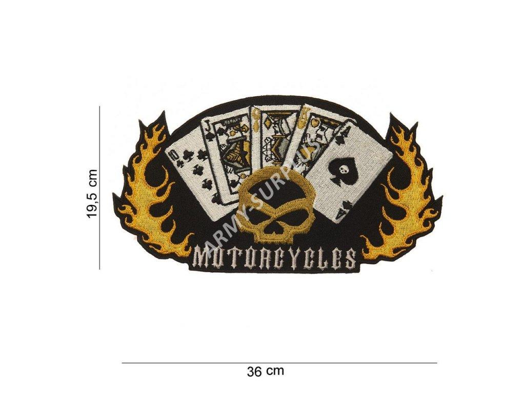 Nášivka nažehlovací Motorcycles 19,5 x 36 cm