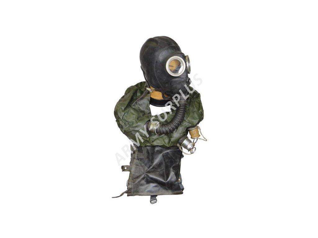 Plynová maska IP5 záchranná pro posádku tanku Rusko IP-5 černá kompletní