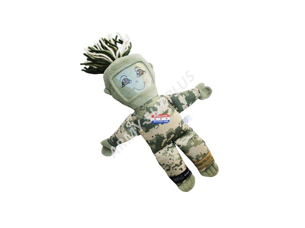 Panák plyšová hračka (plyšák) US army věnovací panenka na fotografii ACU AT-Digital UCP